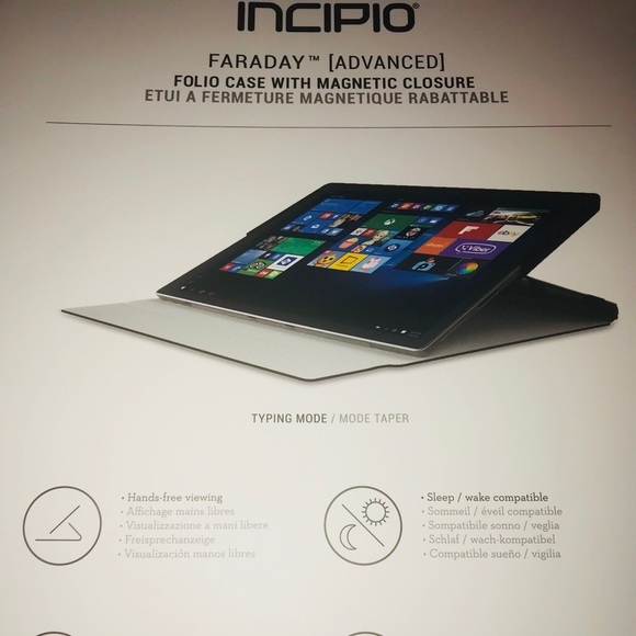 the best attitude 0cfdd bdc24 Incipio surface pro 4; folio case. NWT